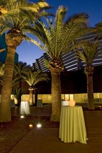Terraza de noche Hotel Hiberus