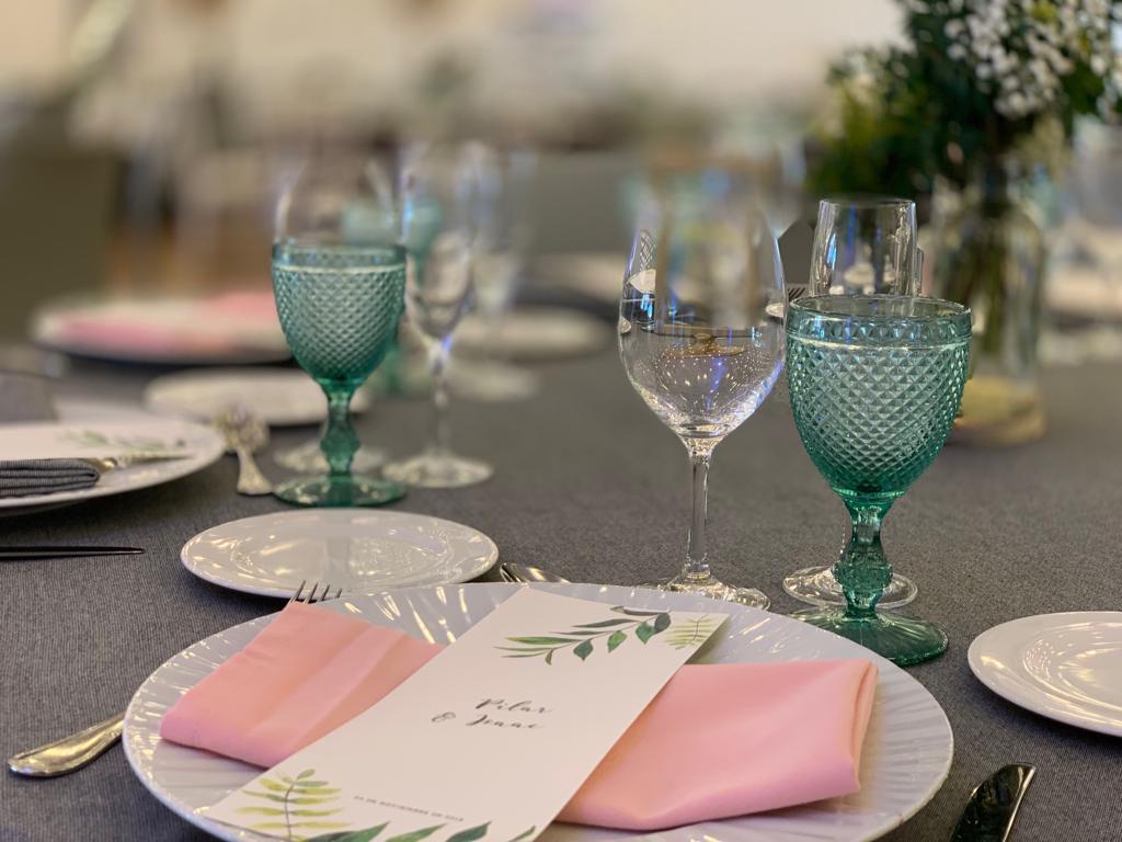 Detalle mesa bodas en Palafox Hoteles